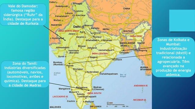 Índia – questão geopolítica – a Caxemira Obs: a maior preocupação relacionada aos conflitos pela caxemira é que tanto a Ín...