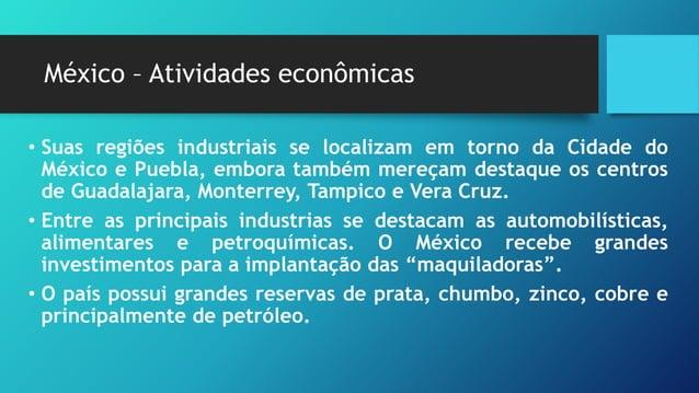 México – Problemas urbanos • O desenvolvimento industrial provocou no país forte movimento migratório para as cidades, pro...