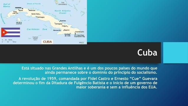 O caso cubano • As condições geopolíticas criadas pela Guerra Fria (invasão da Baía dos Porcos, crise dos mísseis, a expul...