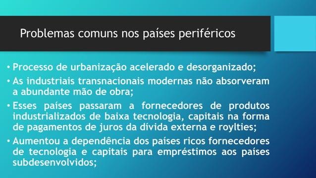 Os Novos Países Industrializados (NIC´s) A partir da década de 1970 alguns países começaram a desenvolver uma política de ...