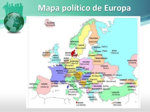Politico Mapa Europa Con Capitales.Paises Y Capitales De Europa
