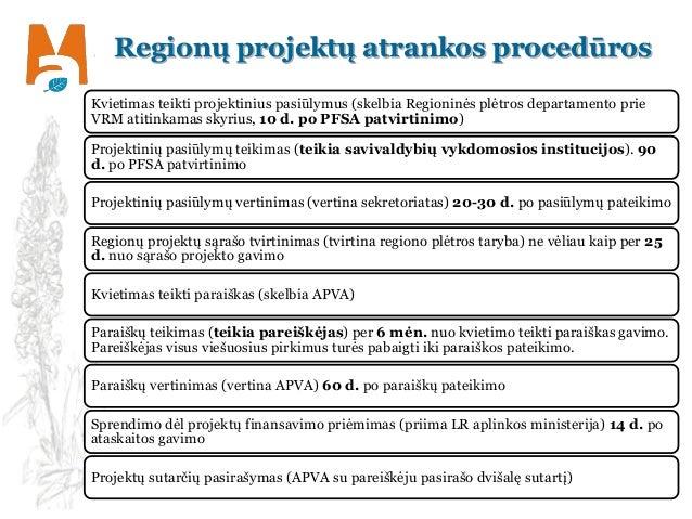 Regionų projektų atrankos procedūros Kvietimas teikti projektinius pasiūlymus (skelbia Regioninės plėtros departamento pri...
