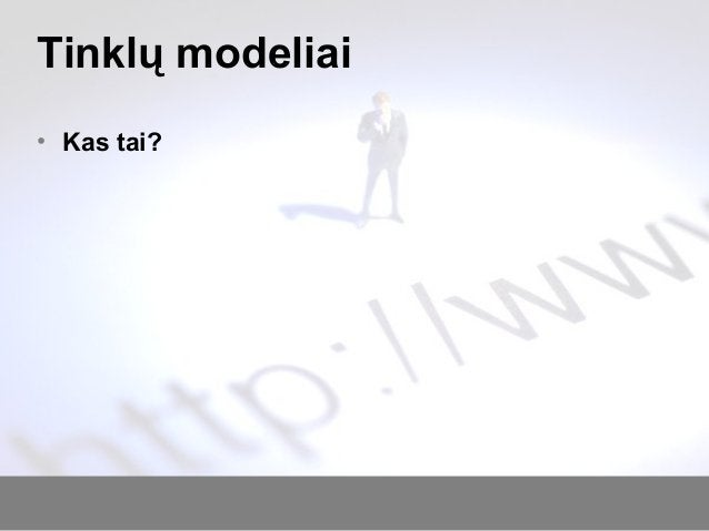 Tinklų modeliai • Kas tai?