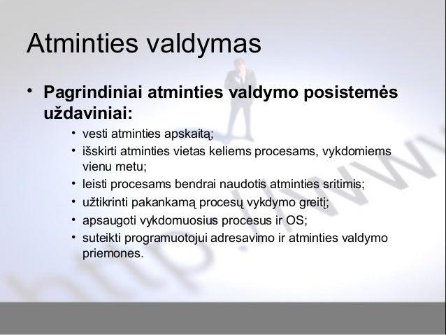 Paskaita nr6 atminties_valdymas Slide 2