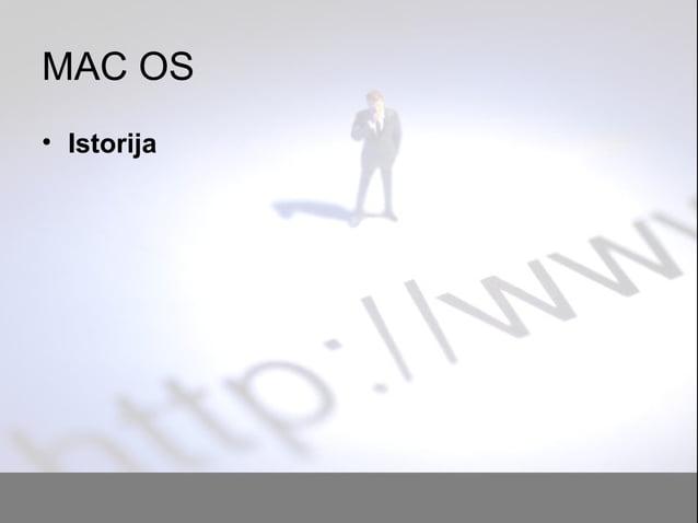 MAC OS • Istorija