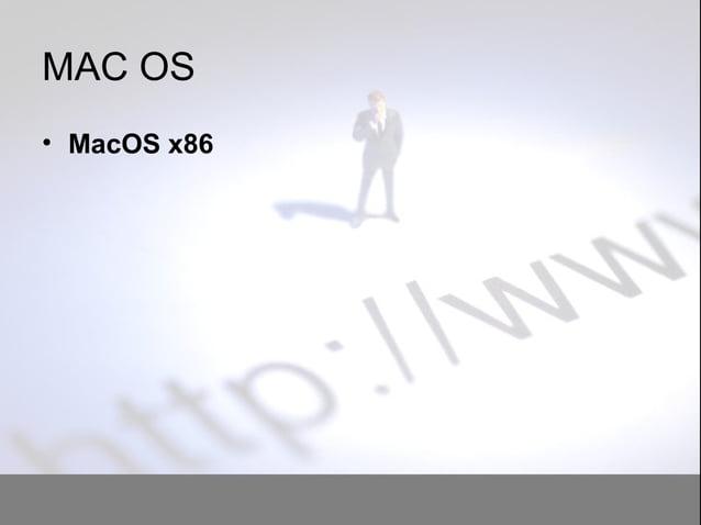 MAC OS • MacOS x86