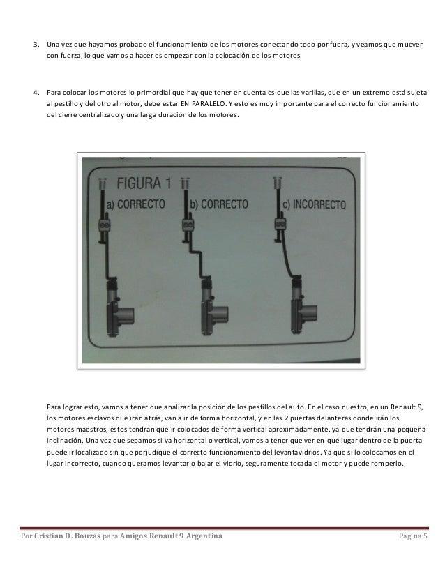 Circuito Levanta Vidrios Electricos : Paso a instalación cierre centralizado por cristian