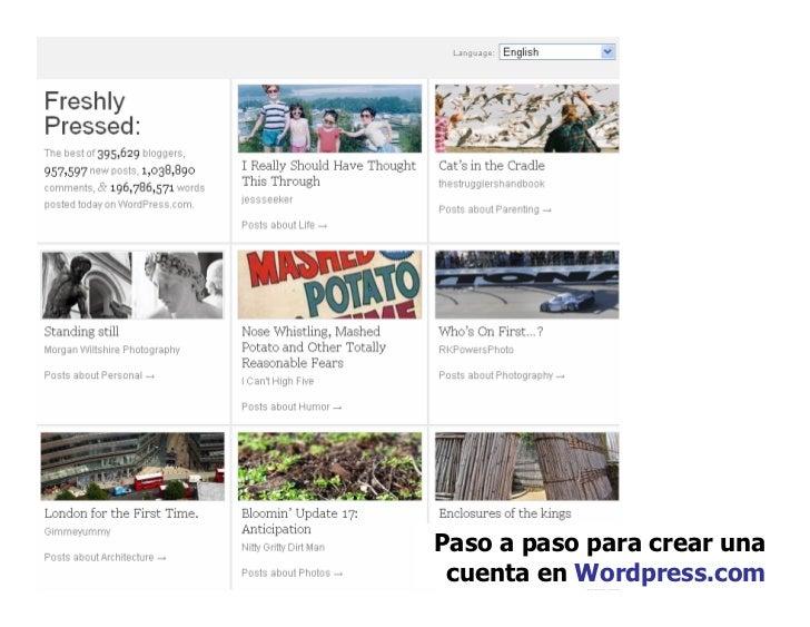Paso a paso para crear una cuenta en Wordpress.com