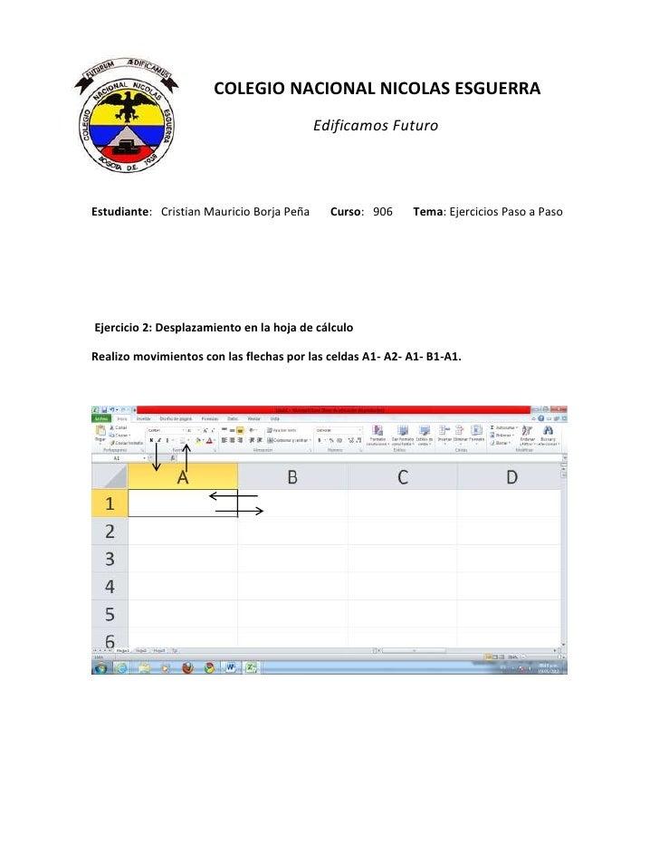 COLEGIO NACIONAL NICOLAS ESGUERRA                                           Edificamos FuturoEstudiante: Cristian Mauricio...