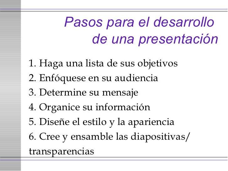 Pasos para realizar presentaciones exitosas for Pasos para realizar una exposicion