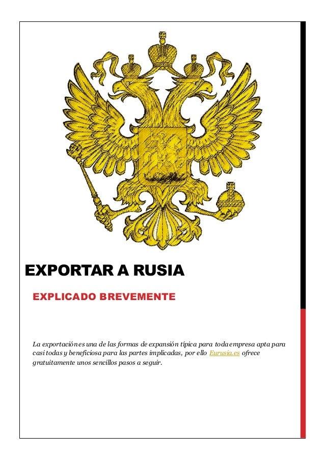 La exportación es una de las formas de expansión típica para toda empresa apta para casi todas y beneficiosa para las part...
