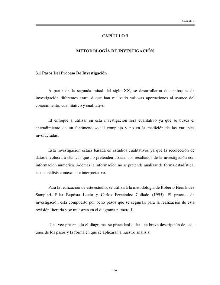 Capítulo 3                                        CAPÍTULO 3                        METODOLOGÍA DE INVESTIGACIÓN3.1 Pasos ...