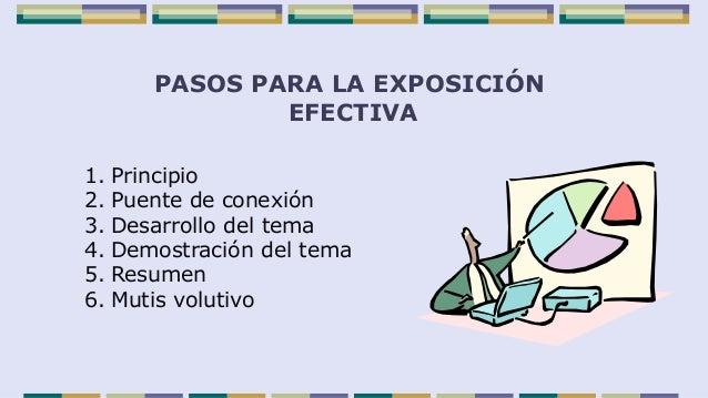 Pasos b sicos para una exposici n efectiva for Pasos para realizar una exposicion