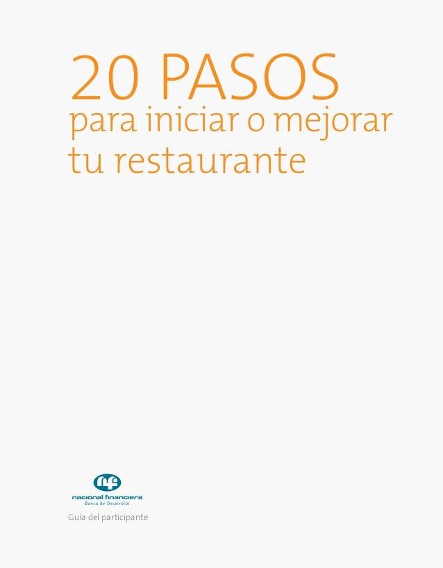 20 Pasos para montar un restaurante