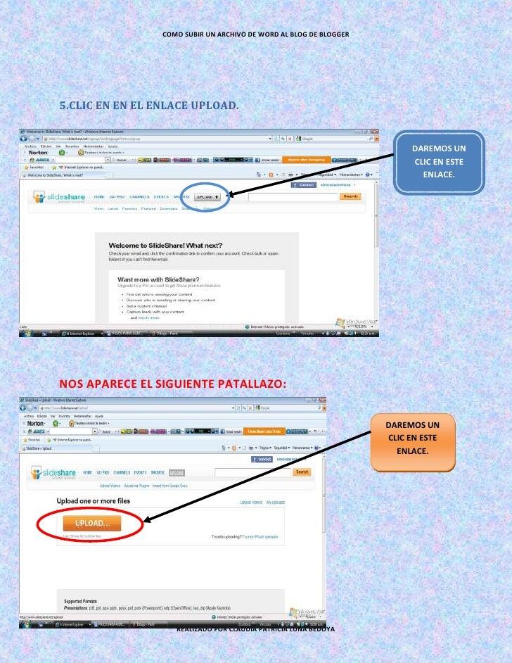 Pasos Para Agregar Archivo De Word En Un Blog De Blogger
