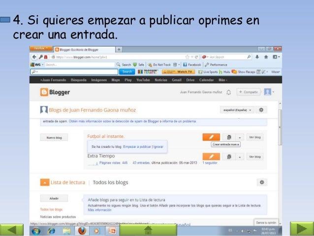 Pasos Para Crear Un Blog Y Una Webquest