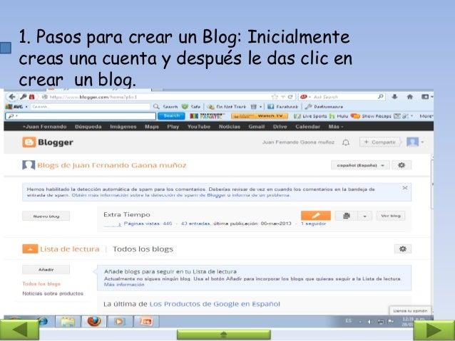 2. Al oprimir crear blog, tendrás que escribir el nombre, la dirección y seleccionar una plantilla.