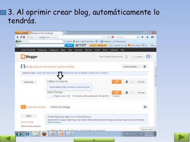 4. Si quieres empezar a publicar oprimes en crear una entrada.