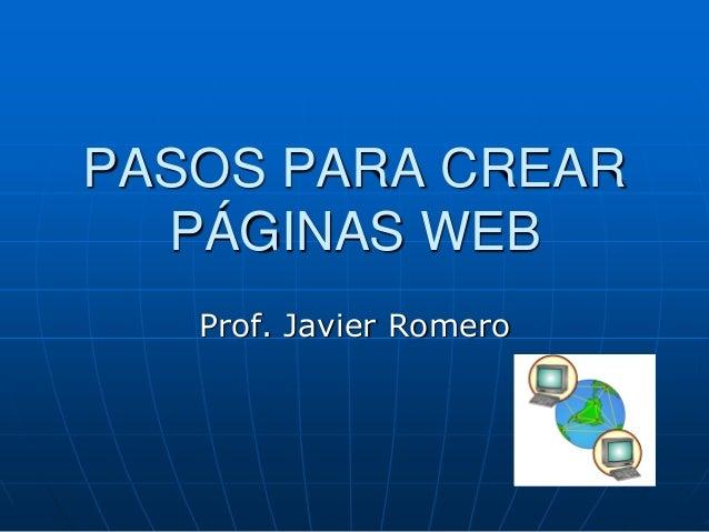 Pasos para crear paginas web Crear website