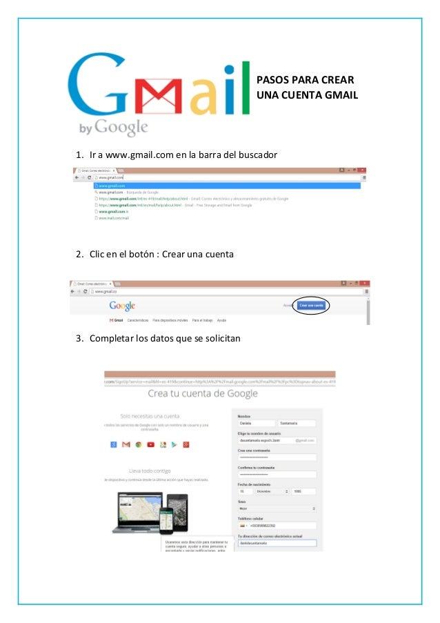 Pasos para crear una cuenta gmail