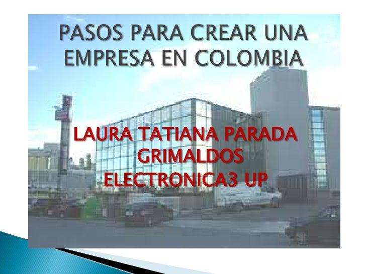 LAURA TATIANA PARADA      GRIMALDOS   ELECTRONICA3 UP