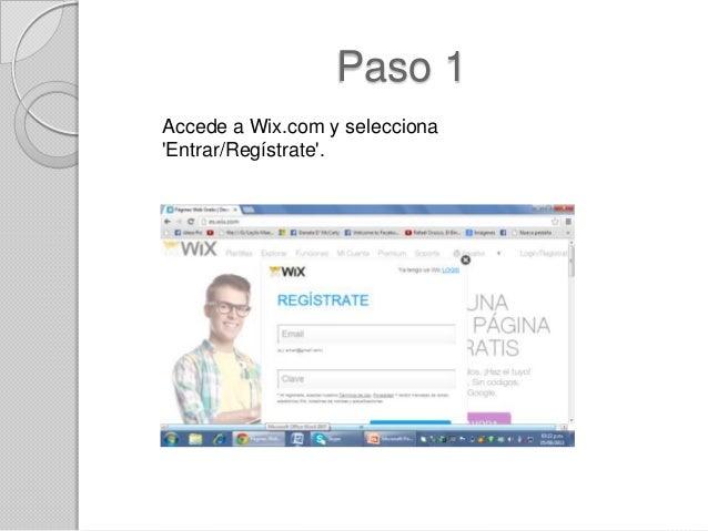 Pasos para crear una pagina web en wix Crear website