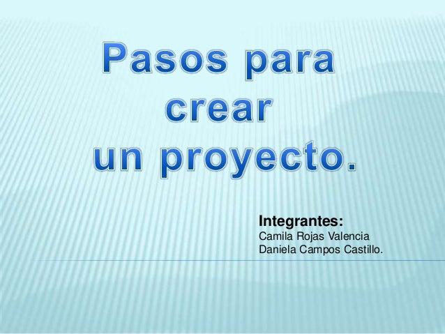 Integrantes:Camila Rojas ValenciaDaniela Campos Castillo.