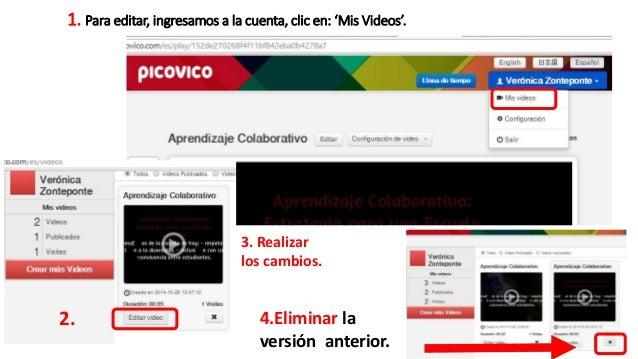 Nota:  Los cambios realizados en el video no se actualizan  automáticamente -generan otro código embed- por lo tanto,  deb...