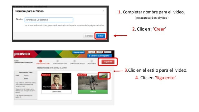 1. Clic en una de las opciones  para añadir fotos.  -Facebook  -Flickr  -Mi PC  2. Seleccionamos 1 o todas las  imágenes y...