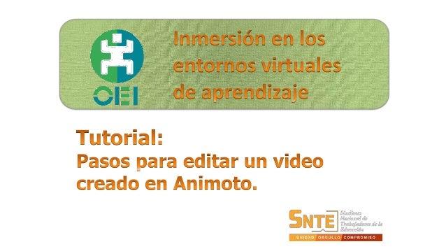 Accedemos a nuestra cuenta de Animoto.  Clic en:  'Mis Videos'.