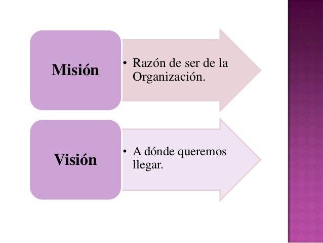 La Misión es la declaración quesirve para saber cuál es nuestronegocio o razón fundamental de sery operar. Es el primer pa...