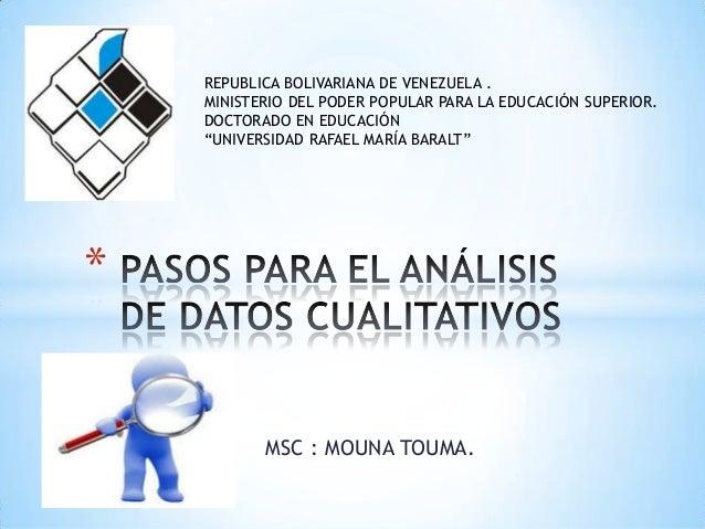 """REPUBLICA BOLIVARIANA DE VENEZUELA . MINISTERIO DEL PODER POPULAR PARA LA EDUCACIÓN SUPERIOR. DOCTORADO EN EDUCACIÓN """"UNIV..."""