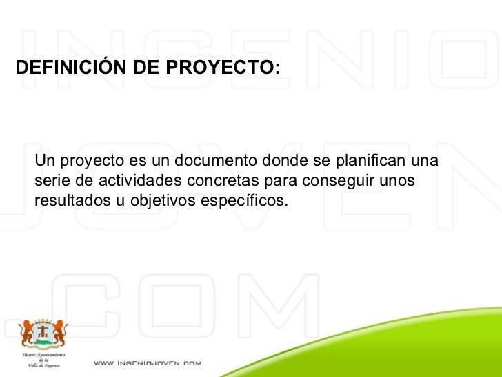 Pasos Para Realizar Un Proyecto - Especial Asociaciones Juveniles Slide 2