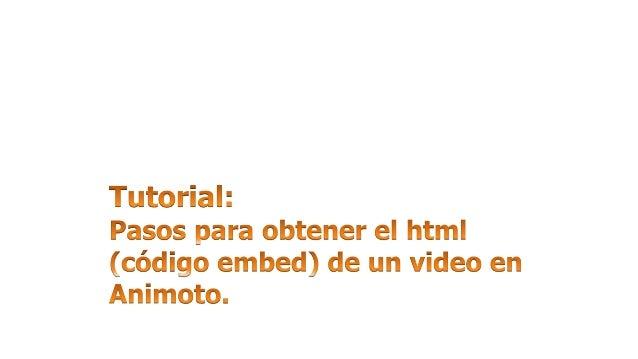 Finalizando el proceso de  creación del video en Animoto.