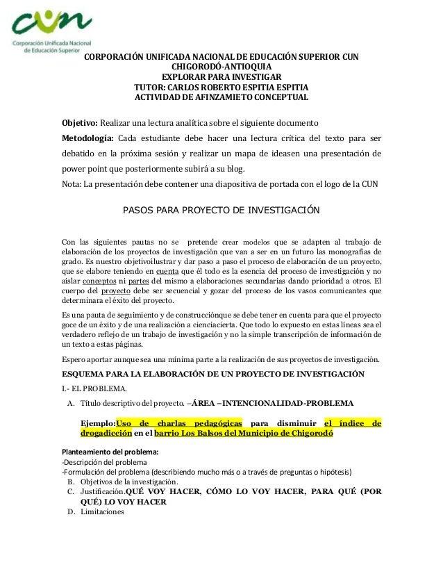 CORPORACIÓN UNIFICADA NACIONAL DE EDUCACIÓN SUPERIOR CUN                        CHIGORODÓ-ANTIOQUIA                      E...