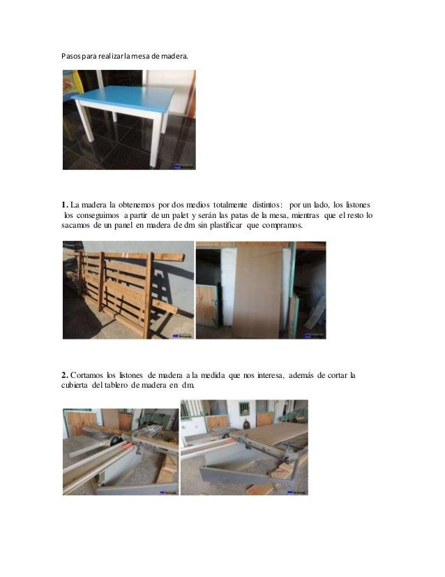 madera mesa