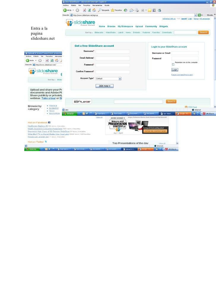 Entra a la pagina slideshare.net
