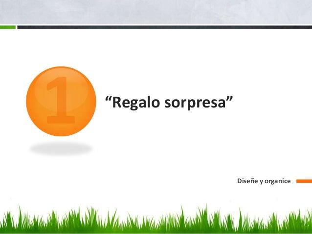 """""""Regalo sorpresa""""Diseñe y organice"""
