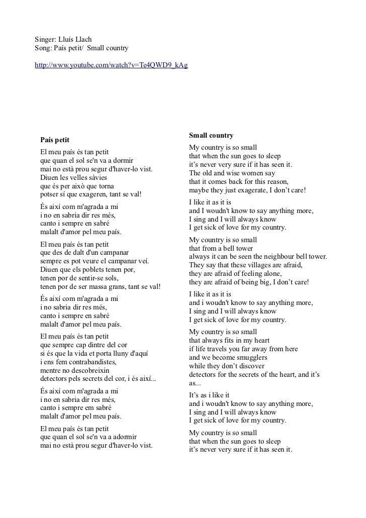 País petit by lluís llach catalan song