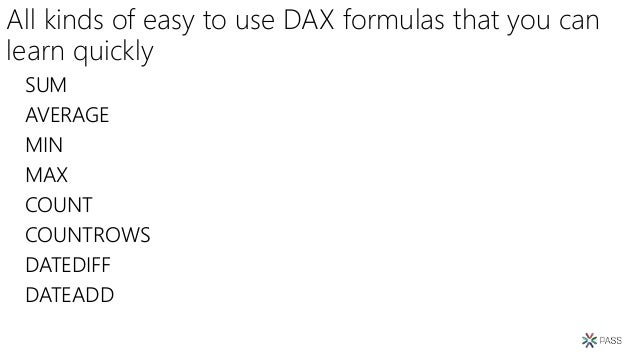 Pass 2018 introduction to dax