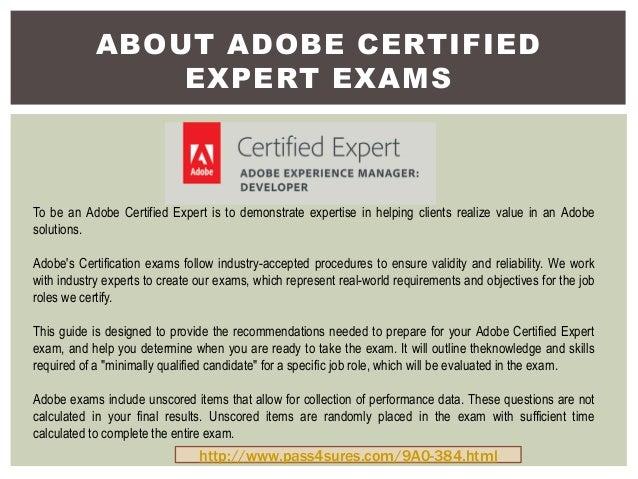Pass4sure 9A0-384 Adobe Exam Braindumps
