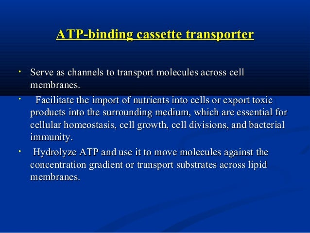 Biological Aspect •  Activity: • •  • •  ATPase activity Substrate transport: wide specificity  Activators & Inhibitors Mu...