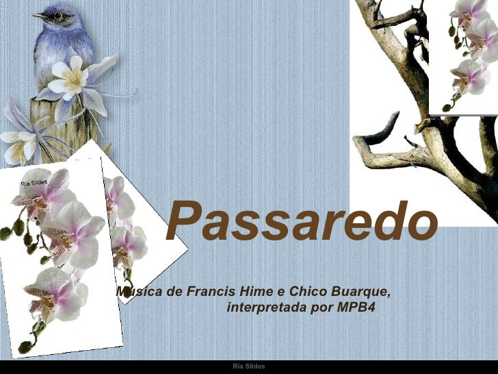 Passaredo Música de Francis Hime e Chico Buarque,  interpretada por MPB4