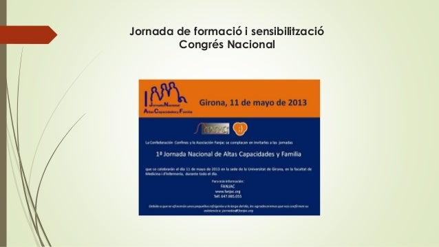 Jornada de formació i sensibilització Congrés Nacional