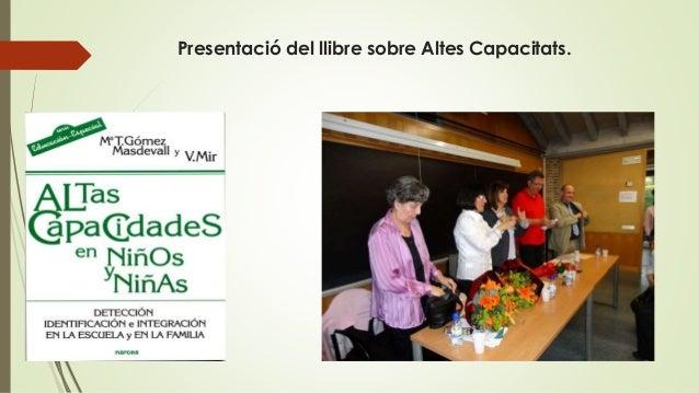 Presentació del llibre sobre Altes Capacitats.