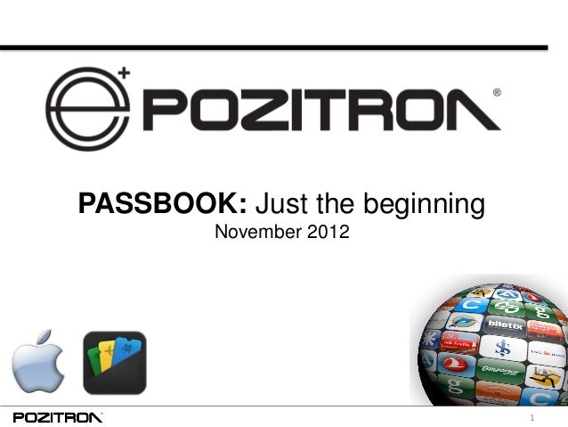 1 PASSBOOK: Just the beginning November 2012