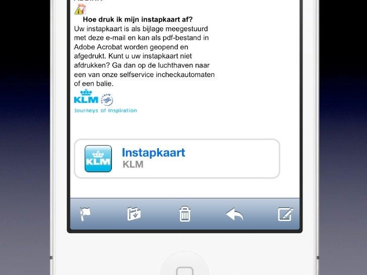 Passbook• Herfst 2012• Inbegrepen bij iOS 6• 200+ miljoen iPhones