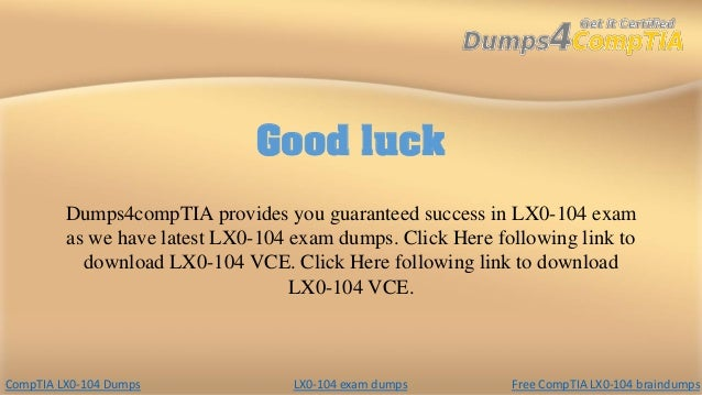 lx0 104 premium dumps pdf free