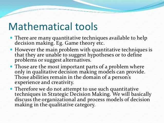 decision making tools and techniques Category: the six hat's approach title: decision making tools and techniques: the six hat's approach.