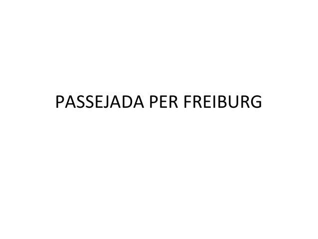 PASSEJADA PER FREIBURG